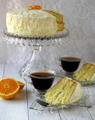 Orange Cake with Orange Cream Cheese Frosting