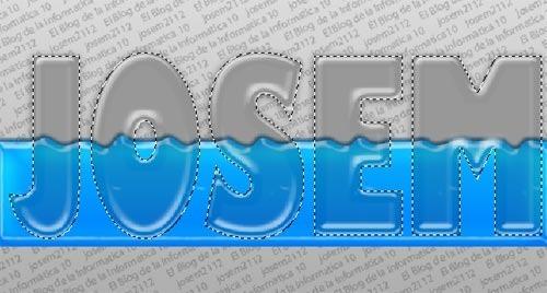 Texto relleno de líquido con Photoshop - selección contorno texto