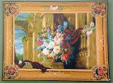 Gobelin 9039, Bouquet et architecture, 110x150cm