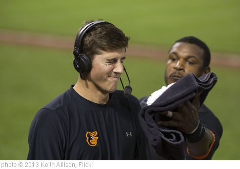 'Kevin Gausman, Adam Jones' photo (c) 2013, Keith Allison - license: http://creativecommons.org/licenses/by-sa/2.0/