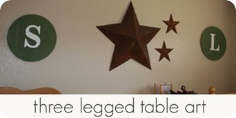 three legged table art