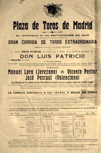 1905-09-10 Cartel Alñternativa Valenciano Coruche