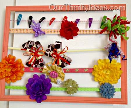 Our Thrifty Ideas  - DIY Bow Holder