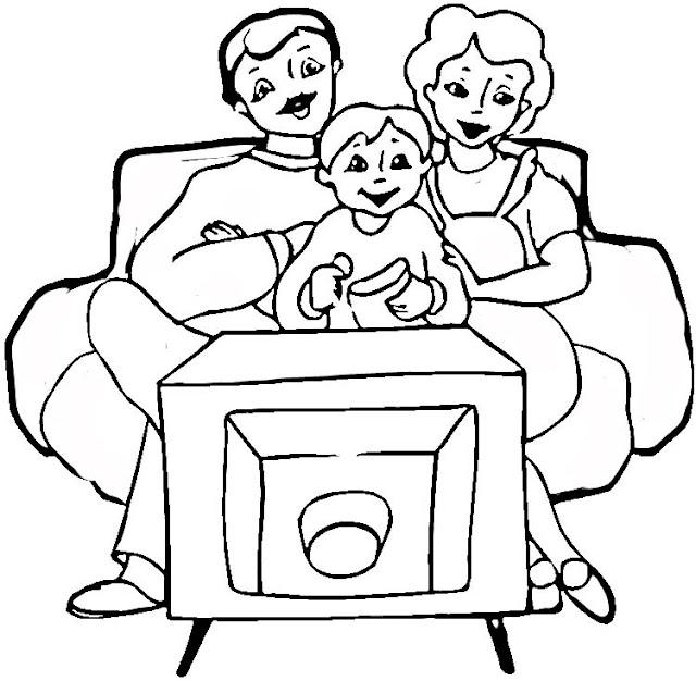 LA FAMILIA PARA COLOREAR