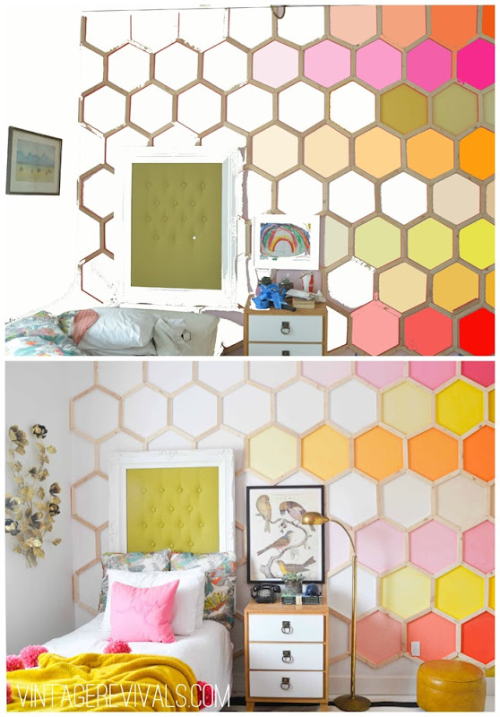 Ombre Hexagon Wall Tutorial