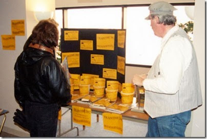 Raffle Table at TrainTime 2002