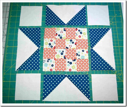 layout sawtooth star blocks