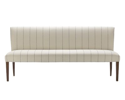 This bench is such a sleek way to add stripes. (williams-sonoma.com)