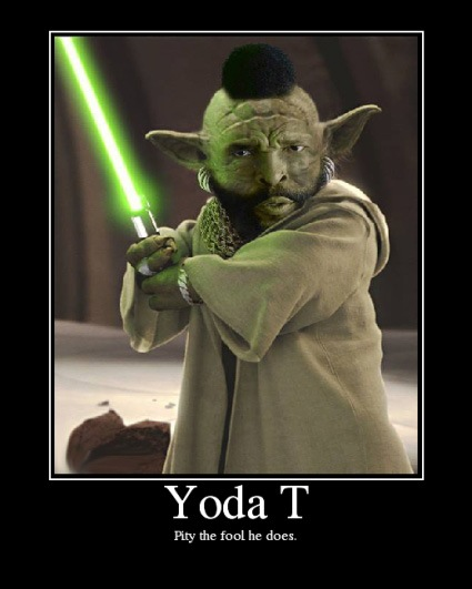 cool star wars photos yoda and mister T