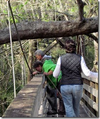 Suspension Bridge at Hillsborough River SP FL...Gin, Dan and Tricia