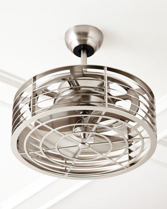 A good change of pace from normal, long-blade ceiling fans. 