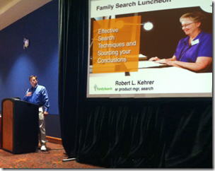 Robert Kehrer presents FamilySearch effective search techniques