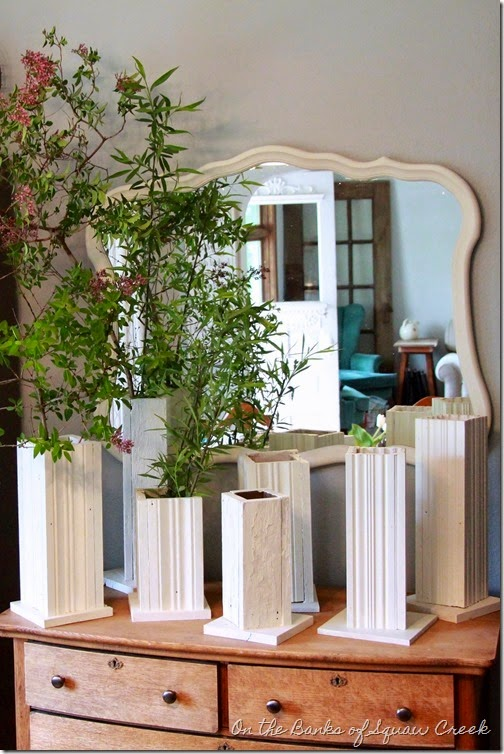 wedding centerpieces antique trim towers
