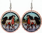 Horse Earrings, Handcrafted Horse Jewelry