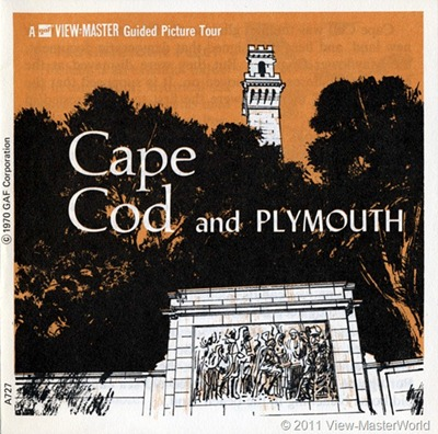 View-Master Cape Cod and Plymouth (A727), Booklet Cover