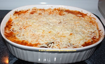 Baked Vegetarian Pasta - baked - parmesan cheese melted B