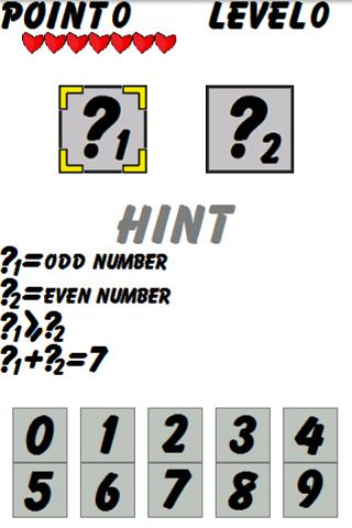 Question Number Game Puzzle