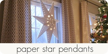 paper star pendants