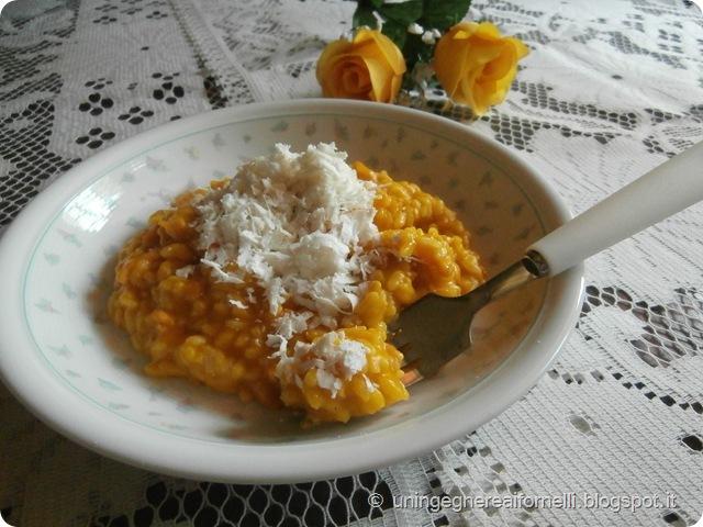 risotto zucca pumpkin rice ricotta salata cheese smoked salmone salmone affumicato primorisotto zucca pumpkin rice ricotta salata cheese smoked salmone salmone affumicato primo