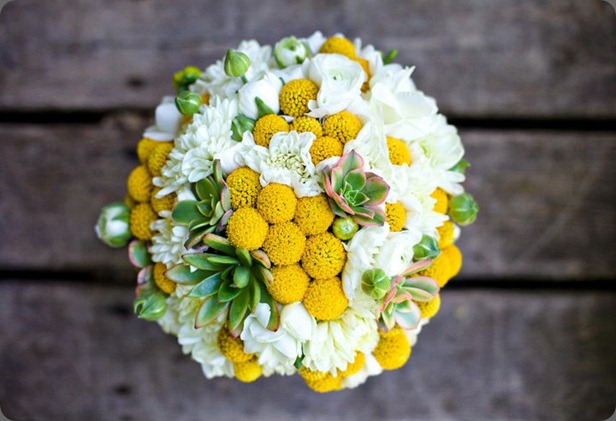 yellow billy ball bouquet zest