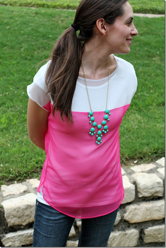 Colorblocked summer top