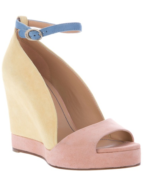 see by chloe colour block wedges sandals shoes