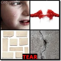 TEAR- 4 Pics 1 Word Answers 3 Letters