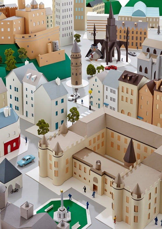Hattie Newman's Delightful Paper Cities Amusing Planet