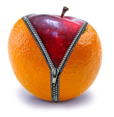 43. Cómo crear una cremallera de Apple en una naranja
