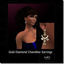 Lili's Gold Diamond Chandilier Earrings