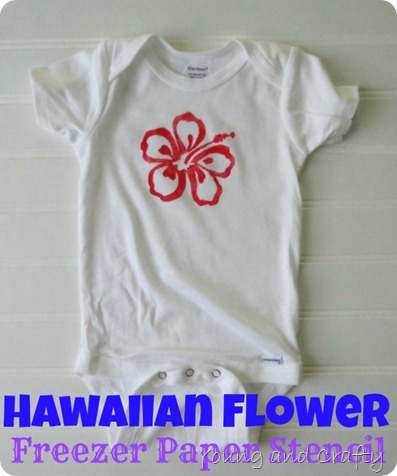 Hawaiian Flower Freezer Paper Stencil