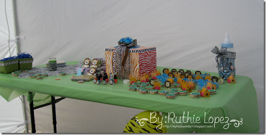 Candy Bar Jungle Safary Theme - Baby Shower Boy -