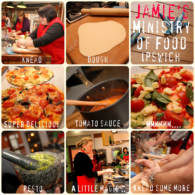 Picnik collage Jamie\'s Ministry of Food Pizza week 7