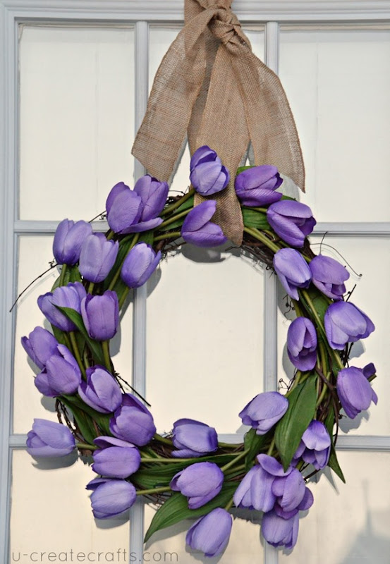 Spring Easter Wreath Tutorial - easiest wreath ever! UCreate