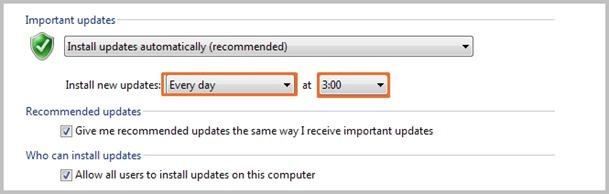 Cara Mengatur Schedule atau Jadwal Windows Update Pada Windows 7 02