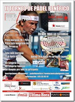 II Torneo de Pádel Benéfico Fundación Isabel Gemio en el Club Megasport Palma Mallorca.