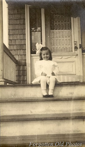 Little Girls on steps PR Antiques