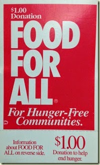FOOD FOR ALL Dollar card