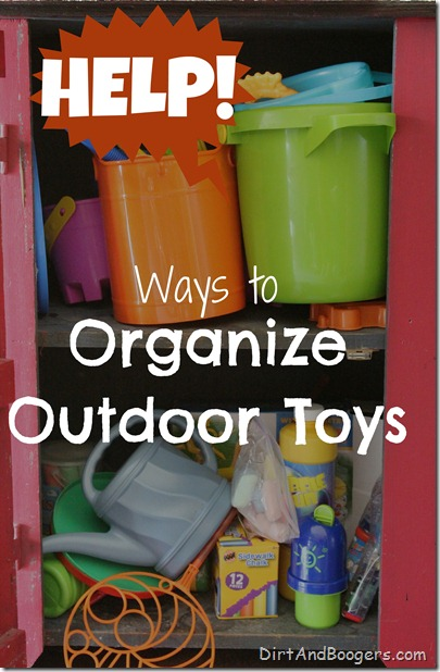 organizing outdoor toys