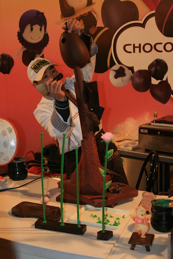 The onsite Chocolate factory, yes we hung around until they darn well gave us some chocolate!