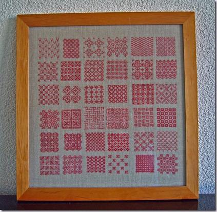 rood-borduurwerk