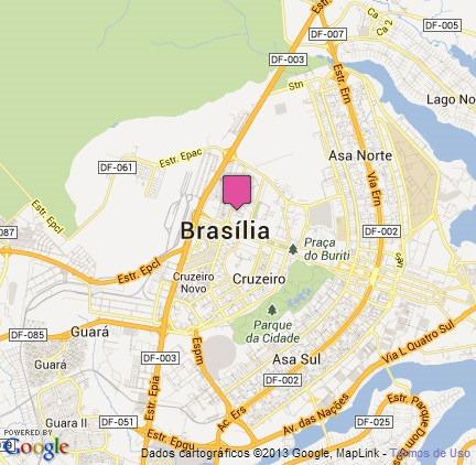 Brasília - obtido com o auxílio de MAP2PIC.com