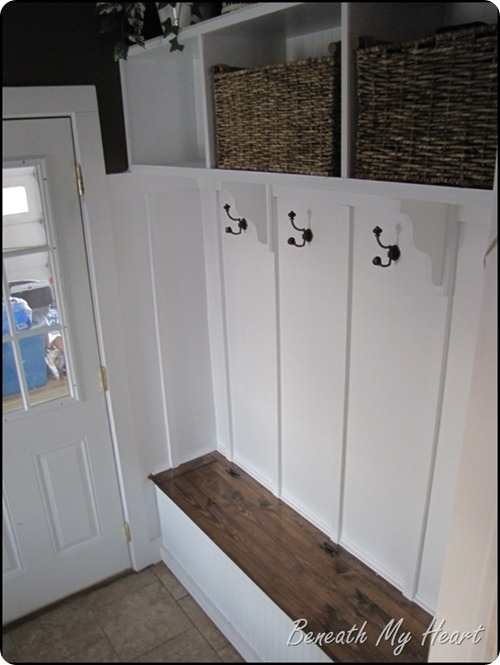 mud room with storage bench
