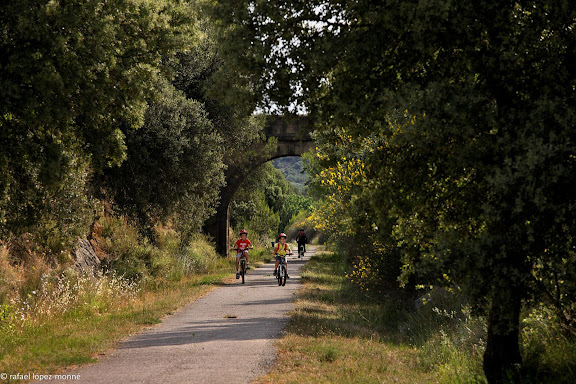 Via Verda de la Terra Alta.Antiga via ferria de la Val de Zafan (Alcanyis/Alcaniz).Horta, Terra Alta, Tarragona
