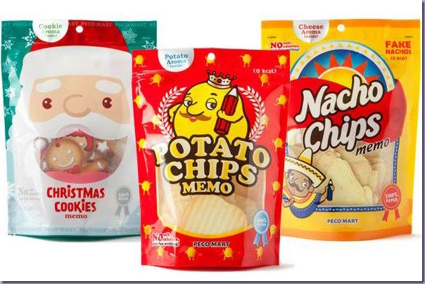 Papéis-Recados-Anotações-Biscoitos-Natalinos-Salgadinho-Batatas-Onduladas-Chips-Nachos-Aroma