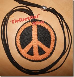 simbolo hippie fieltro