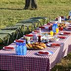 Frühstückstisch nach der Ballonfahrt © Foto: S.Schlesinger | Outback Africa Erlebnisreisen