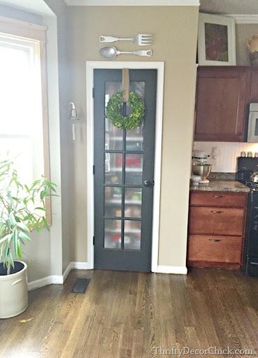 Captivating Black Door Pantry