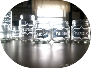DIY Etching Baby Food Jars
