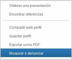 opciones usuario linkedin